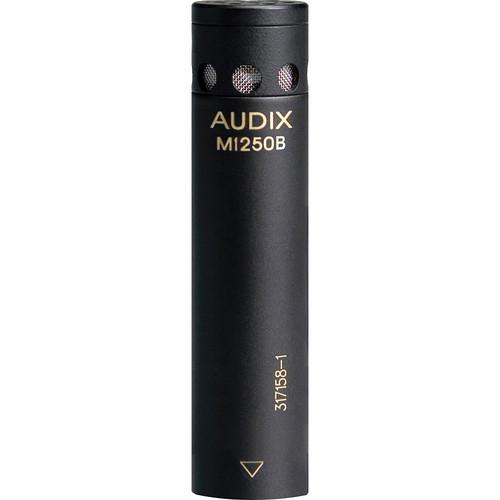 Audix M1250B-HC Miniaturized Condenser Microphone (Hypercardioid, Black)