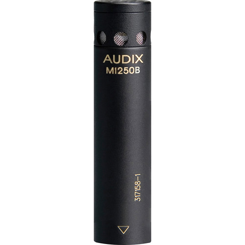 Audix M1250BO Miniaturized Condenser Microphone (Omnidirectional, Black)