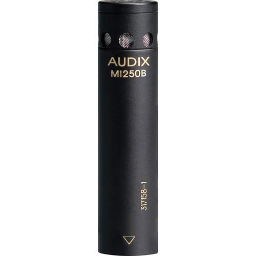 Audix M1250BO Miniaturized Condenser Microphone (Omnidirectional, Black)