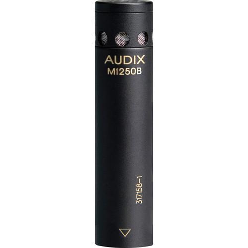 Audix M1250B-S Miniaturized Condenser Shotgun Microphone (Supercardioid, Black)