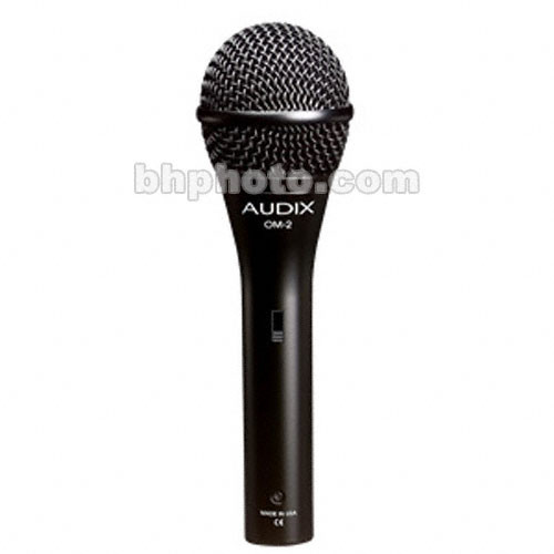 Audix OM2S Handheld Hypercardioid Dynamic Microphone with On/Off Switch