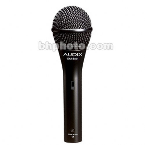 Audix OM3S Handheld Hypercardioid Dynamic Microphone with On/Off Switch