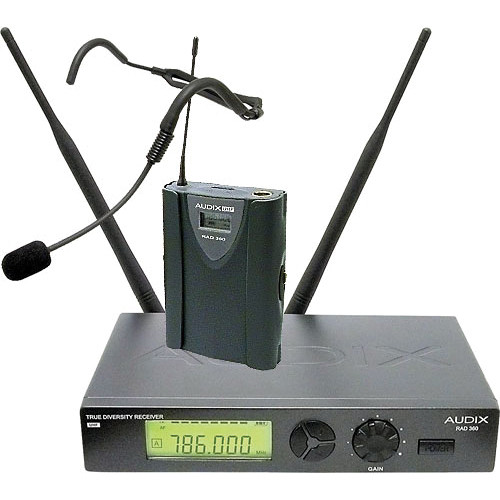 Audix RAD360 Wireless Bodypack Headworn Microphone System