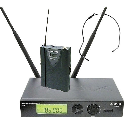 Audix RAD360 Wireless Bodypack Headworn Microphone System (Black)