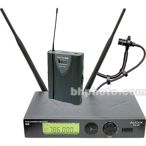 Audix RAD360 Wireless Horn Microphone System (Channel B / 638MHz - 662MHz)