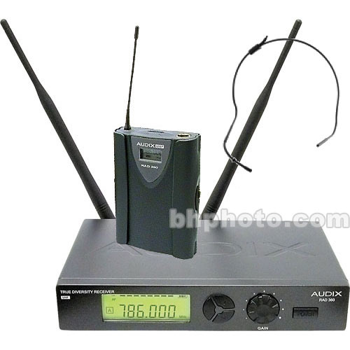 Audix RAD360 Head Worn Wireless Microphone System (Channel B / 638MHz - 662MHz)