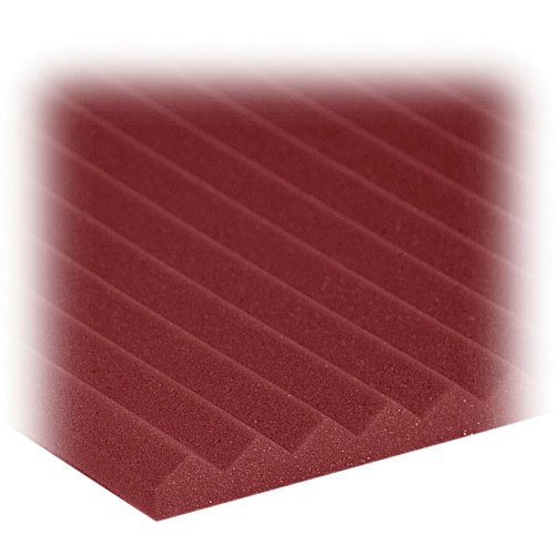 "Auralex 1"" Studiofoam Wedge (Burgundy) - 24"" x 48"" x 1"" Acoustic Absorption Panel - 20 Pieces"