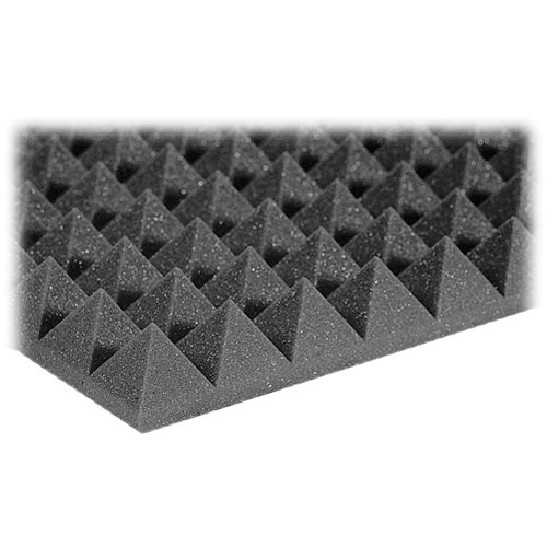 Auralex Studiofoam Pyramid-22 (Charcoal Grey, 12-Pack)