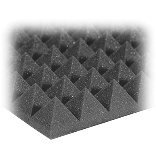 Auralex Studiofoam Pyramid-24 (Charcoal Grey, 12-Pack)