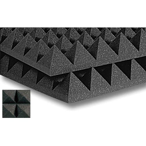 Auralex Studiofoam Pyramid-24 (Charcoal Grey, 2-Pack)