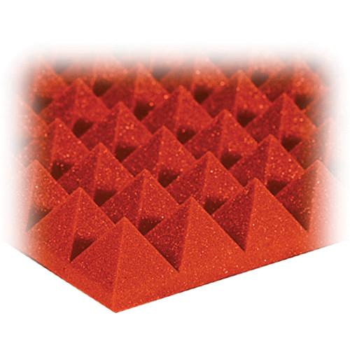 "Auralex 2"" Studiofoam Pyramid-24 (Orange) - 12 Pieces"