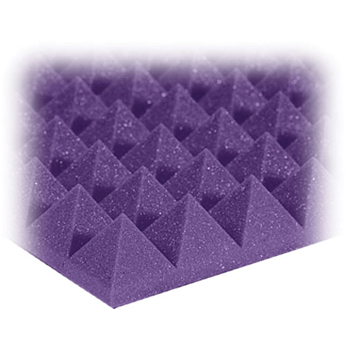 "Auralex 2"" Studiofoam Pyramid-24 (Purple) - 12 Pieces"