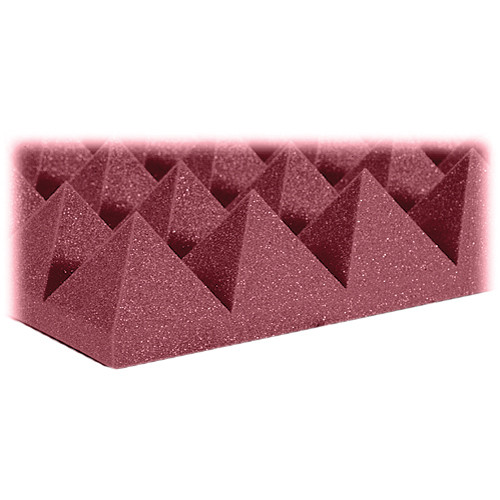 "Auralex 4"" Studiofoam Pyramid-22 (Burgundy) - 6 Pieces"