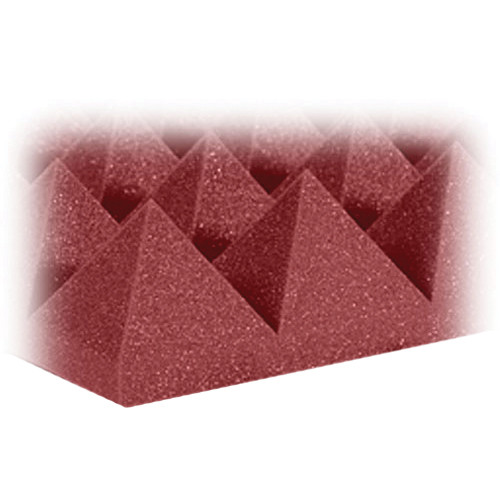 "Auralex 4"" Studiofoam Pyramid-24 (Burgundy) - 6 Pieces"