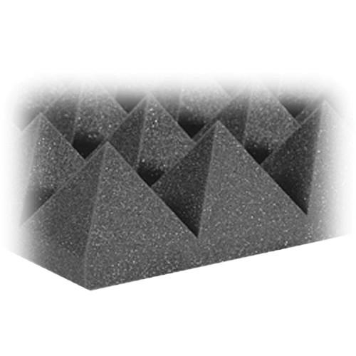 "Auralex 4"" Studiofoam Pyramid-24 (Charcoal Gray) - 6 Pieces"