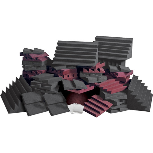 Auralex D108L Roominators Kit (Charcoal Gray/Burgundy)
