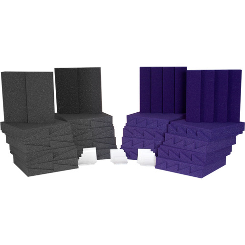 Auralex D36 (Charcoal Grey/Purple) Roominators Kit