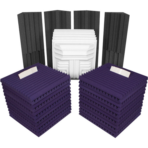 Auralex Deluxe Plus Roominators Kit - (Purple/Charcoal)