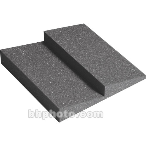 "Auralex DST-112 (Charcoal Gray) - Designer Series Treatments 12"" x 12"" x 2"" Dual-Ridge Acoustic Foam Panel - 24 Pieces"