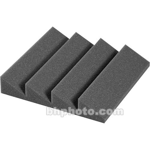 """Auralex DST-114 (Charcoal Gray) - Designer Series Treatments 12"""" x 12"""" x 2"""" Four-Ridge Acoustic Foam Panel - 24 Pieces"""