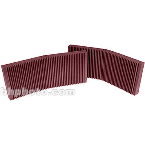 "Auralex MAX-Wall 200 (Burgundy) - 20"" x 48"" x 4 3/8"" Mobile Acoustic Panels, No Stands - Two Pieces"