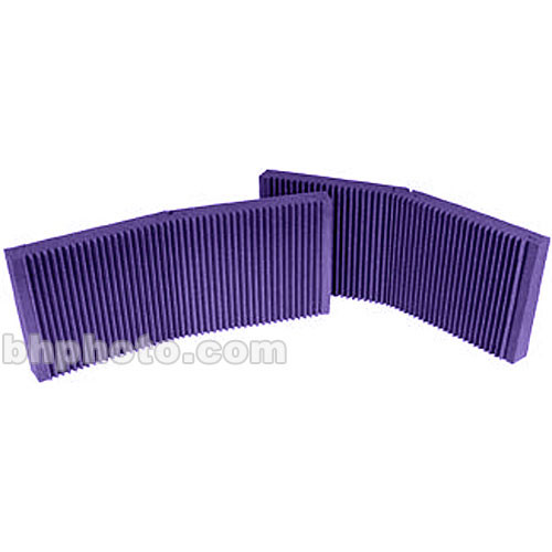 "Auralex MAX-Wall 200 (Purple) - 20"" x 48"" x 4 3/8"" Mobile Acoustic Panels, No Stands - Two Pieces"