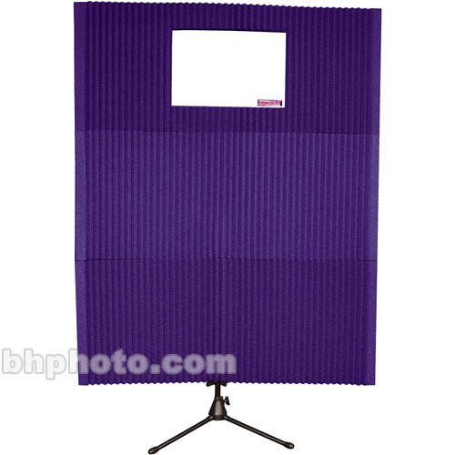 "Auralex MAX-Wall 211 (Purple) - Two 20"" x 48"" x 4 3/8"" Mobile Acoustic Panels, One 20"" x 48"" x 4 3/8"" Mobile Acoustic Panel with Window Cut-Out, One MAX-Stand and One MAX-Clamp"