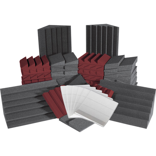 Auralex Alpha-DST (Charcoal Gray/Burgundy) Roominators Kit