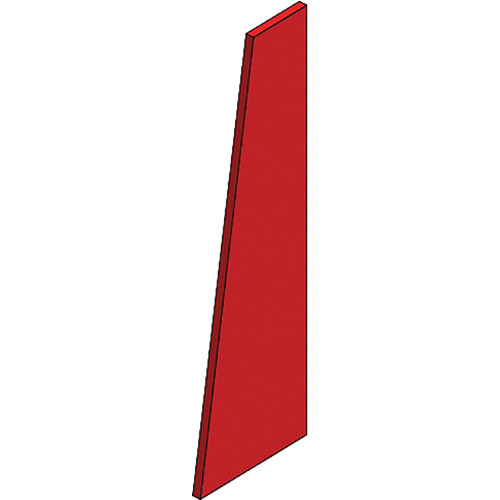 Auralex S3TZR SonoSuede Trapezoid Panel - Right (Red)