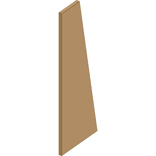 Auralex S3TZR SonoSuede Trapezoid Panel - Right (Tan)