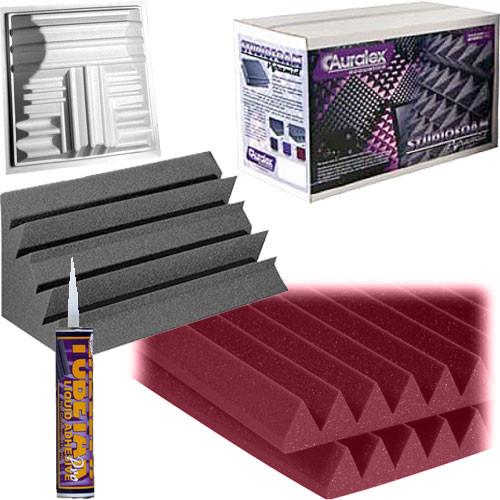 Auralex Roominators DeLuxePlus SmartPak - (Burgundy/Charcoal)