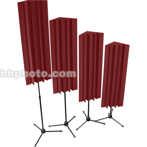 Auralex Stand-Mounted LENRD (Burgundy) - 4 Pieces with Stands