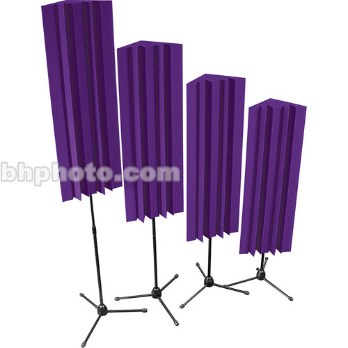 "Auralex Stand-Mounted LENRD (Purple) - 48"" Stand-Mounted Bass Trap - 4 Pieces with Stands"