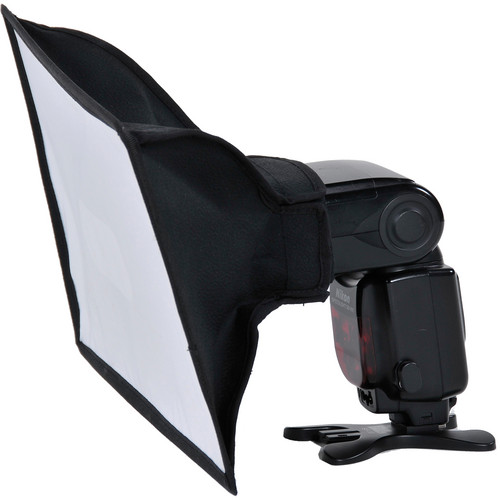 "Aurora Large Silver-Lined Softbox for Portable Flash (8 x 11"") with Strap"