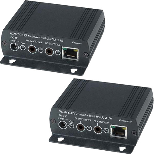 Aurora Multimedia 330 Ft HD/3D HDMI/CAT Extender with IR and RS-232 (ASP-CATx1VS)