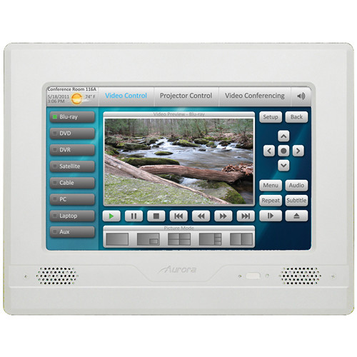 Aurora Multimedia NXT-1330V Touch Panel In-Wall Controller With Video Preview (Silver)