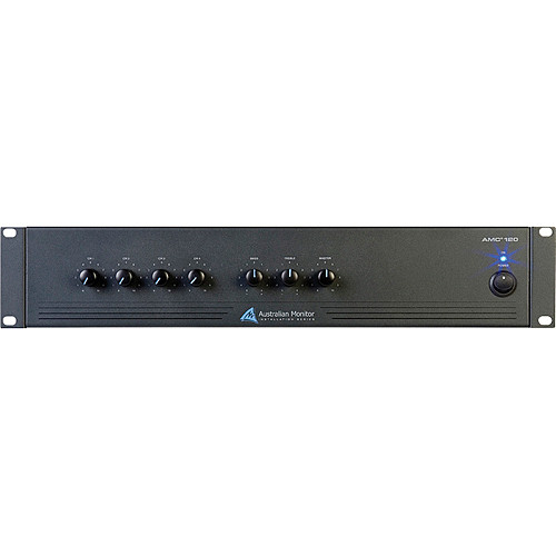 Australian Monitor AMC120 3x1 Rack Mountable Mixer/Amplifier (120W @ 4 Ohms)