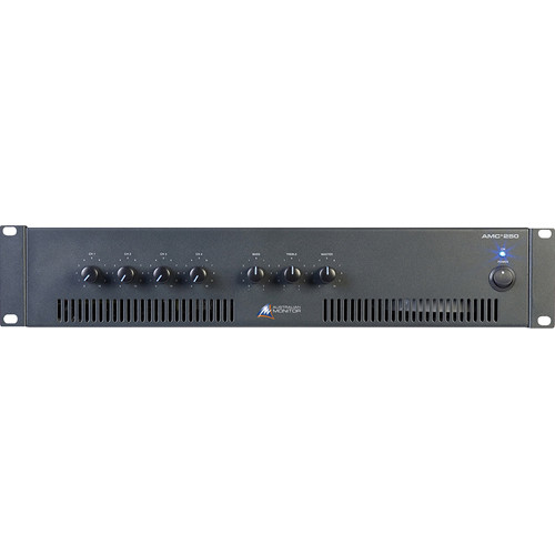 Australian Monitor AMC+250 4 Input Rack Mountable Mixer/Amplifier