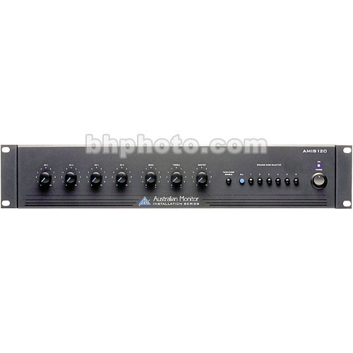 Australian Monitor AMIS120 120 Watt 4-Channel Mixer Amplifier
