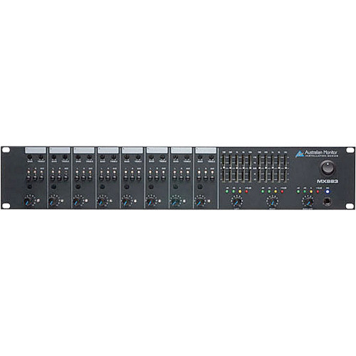 Australian Monitor MX883 8-Channel Stereo Microphone and Line Mixer