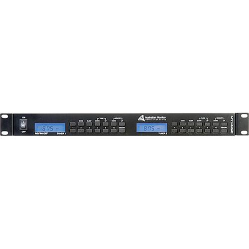 Australian Monitor MYMDT Rackmount Dual AM/FM Tuner (1RU)