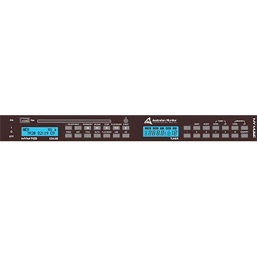 Australian Monitor MYM-TCD Rack-Mount CD/MP3 Player and AM/FM Tuner