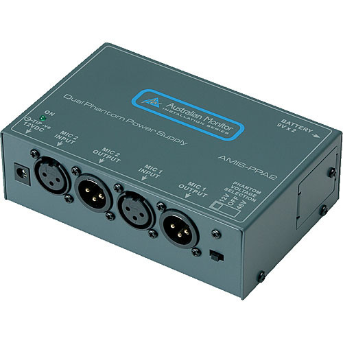 Australian Monitor PPA2 Juiced Up - Dual Channel Battery or AC Powered Phantom Power Supply
