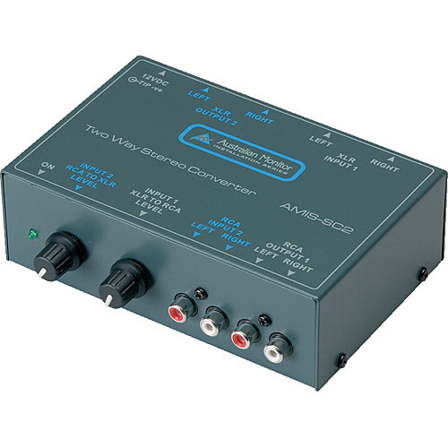 Australian Monitor SC2 Get Up - Balanced and Unbalanced 2-Way Stereo Level Converter