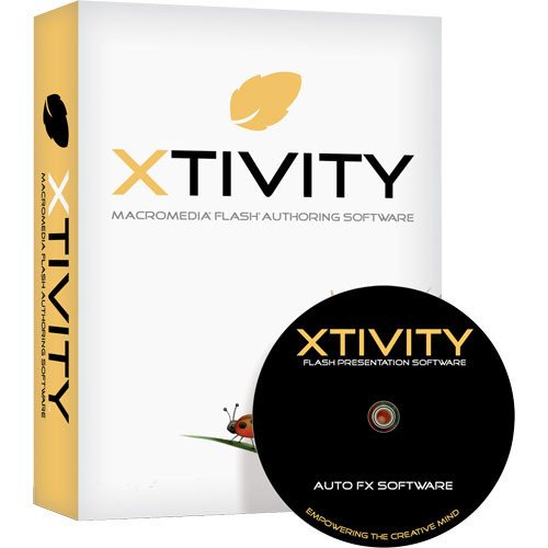 Auto FX Software Xtivity Macromedia Flash (SWF) Authoring Software