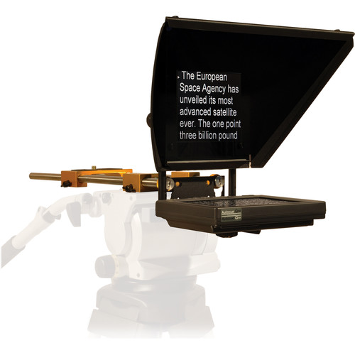 "Autocue/QTV 8"" Professional Series Prompter Mounted on Handheld ENG Camera (Custom Package)"