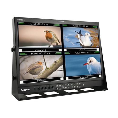 """Autocue/QTV 24"""" Quad-Split Broadcast Monitor"""