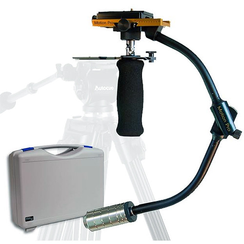 Autocue/QTV Motion Pro Camera Stabilizer with Docking Station & Case