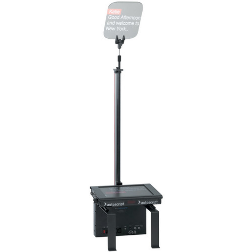 "Autoscript Motorized Rise/Fall Conference Stand with LED Monitor (15"")"