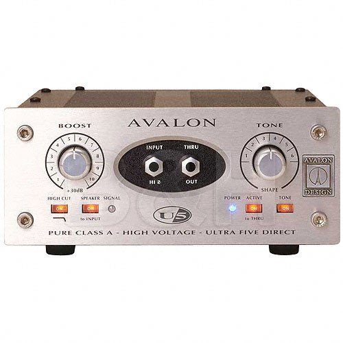 Avalon Design U5 Mono Instrument and DI Preamplifier with Six Passive Tone-EQ Curves